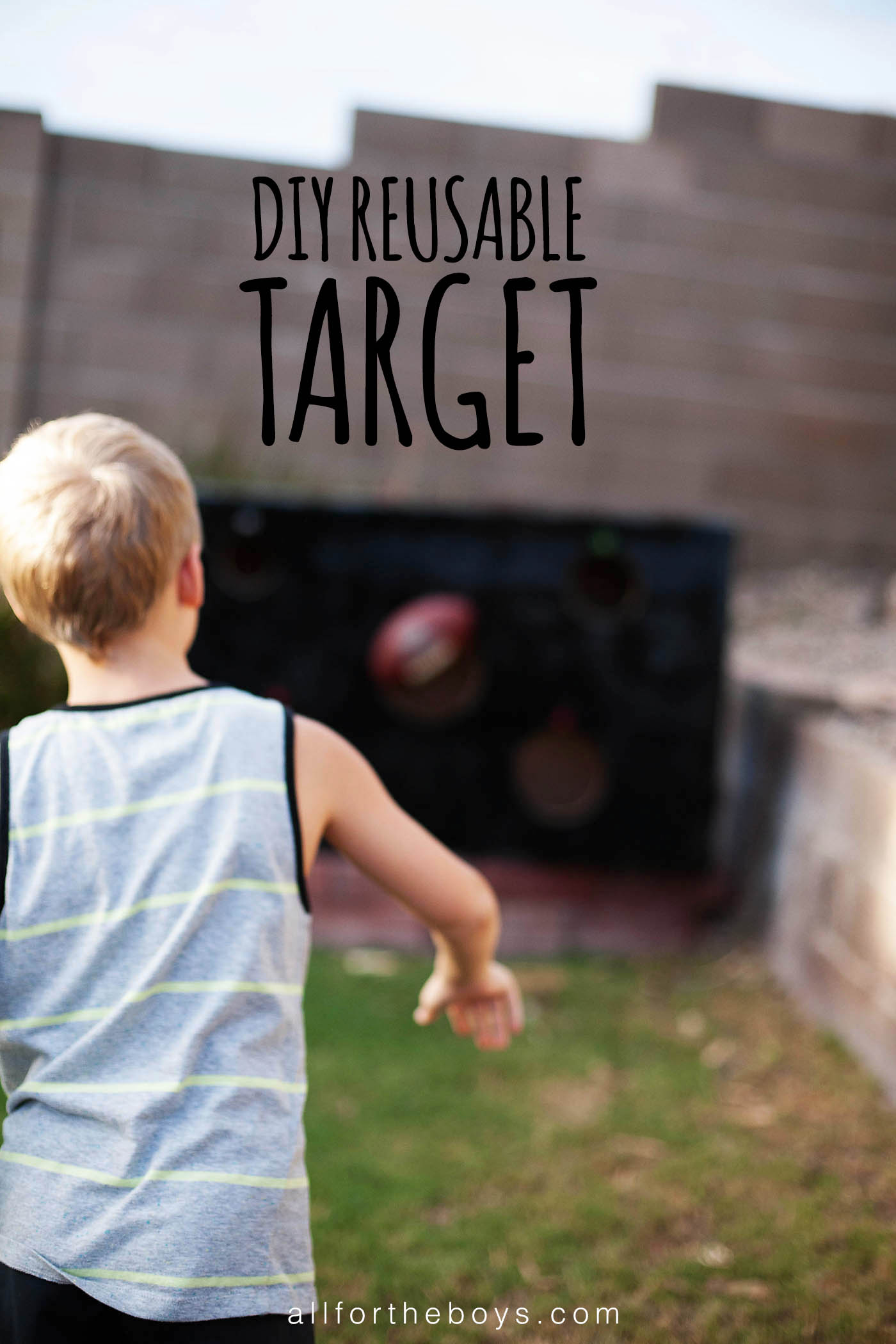 DIY Reusable Target. Cover with pictures for different holidays or parties or just use numbers for points!