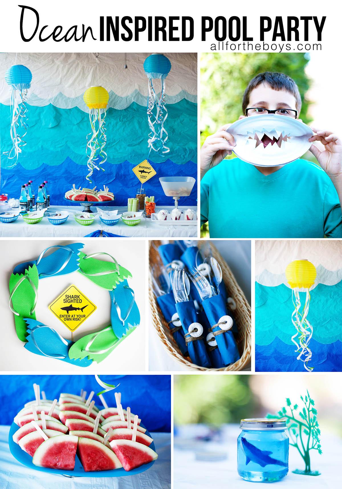 Ocean inspired pool party