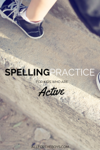 Spelling practice ideas for active kids