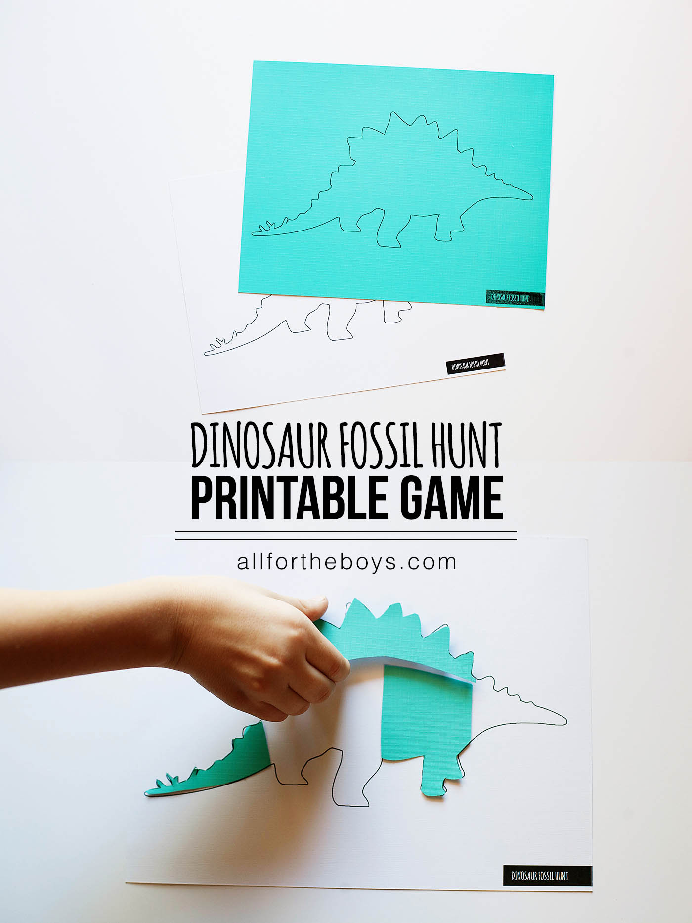 Dinosaur fossil hunt printable game - comes with 5 dinosaurs!