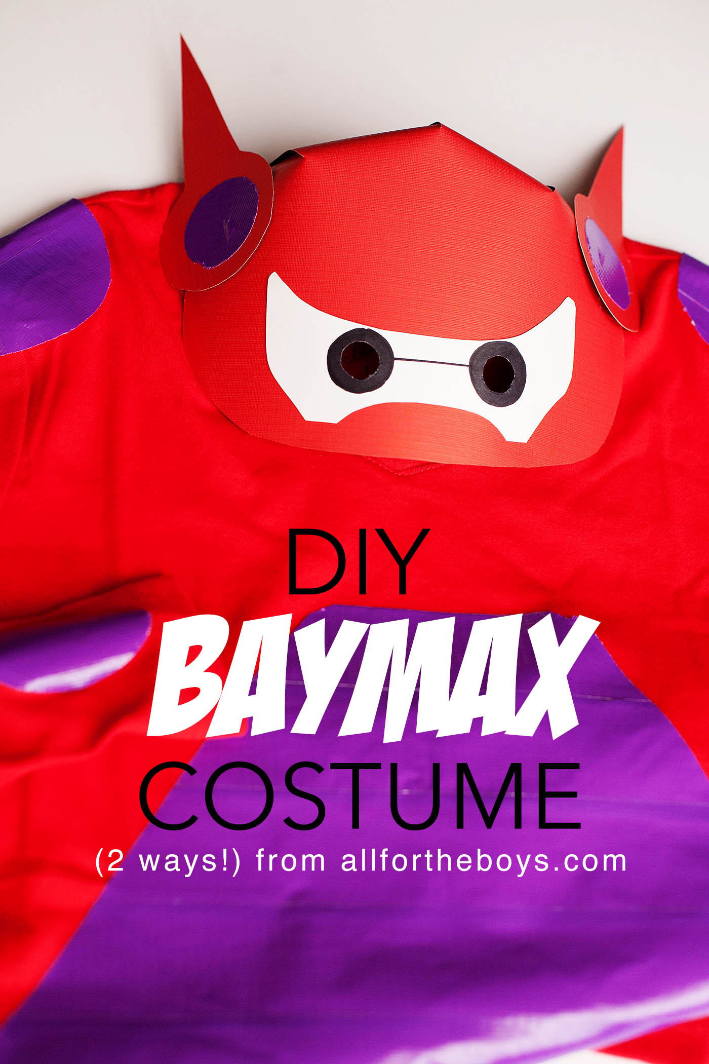 Diy baymax costume from big hero 6 all for the boys diy baymax costume 2 ways solutioingenieria Choice Image