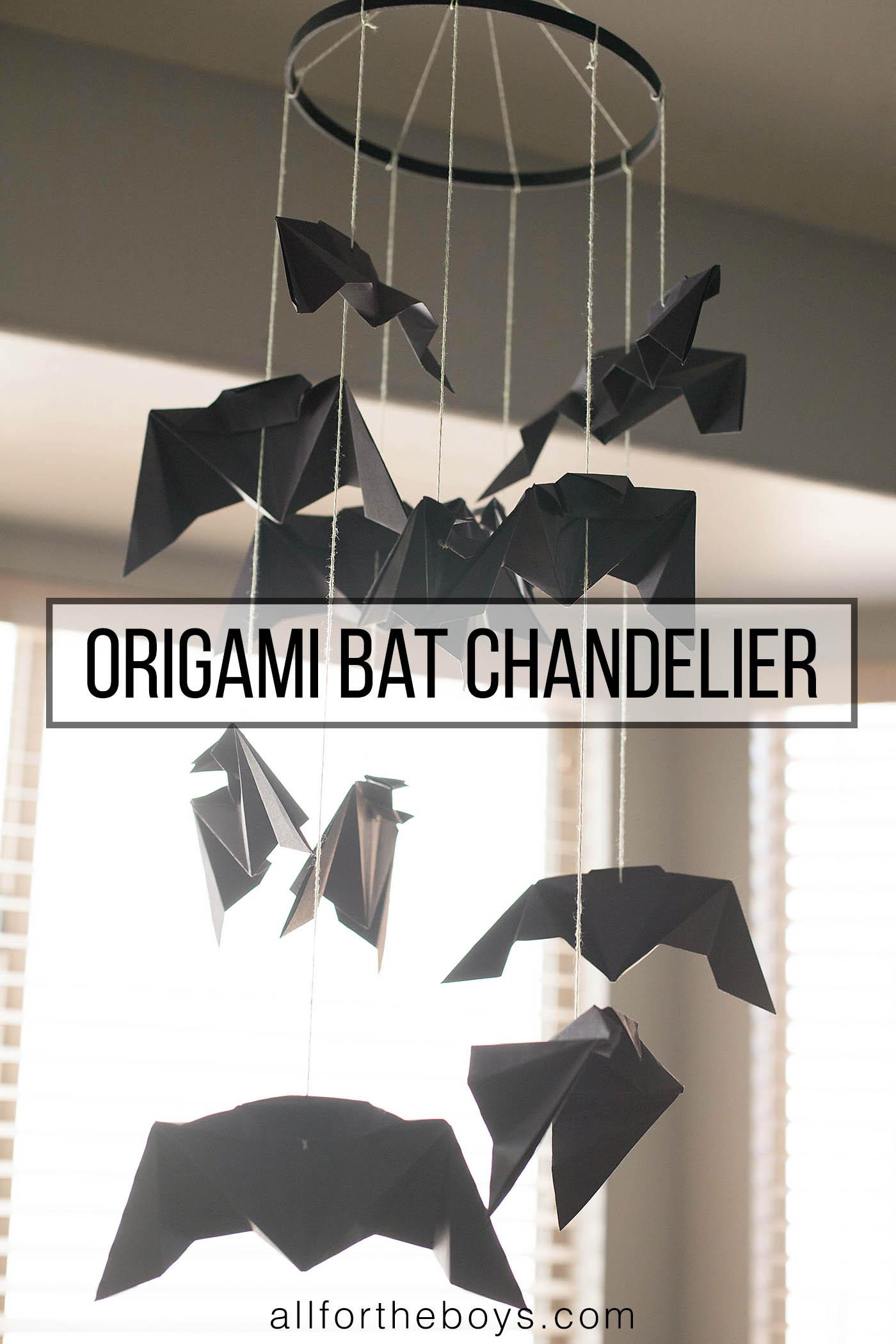 Origami Bat Chandelier