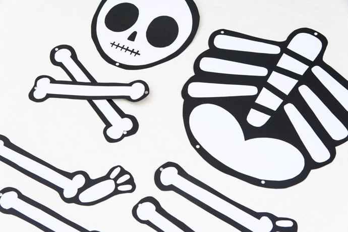 skeleton template to cut out - not so scary printable skeleton all for the boys