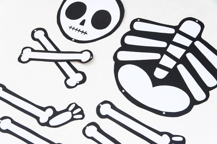 Not So Scary Printable Skeleton