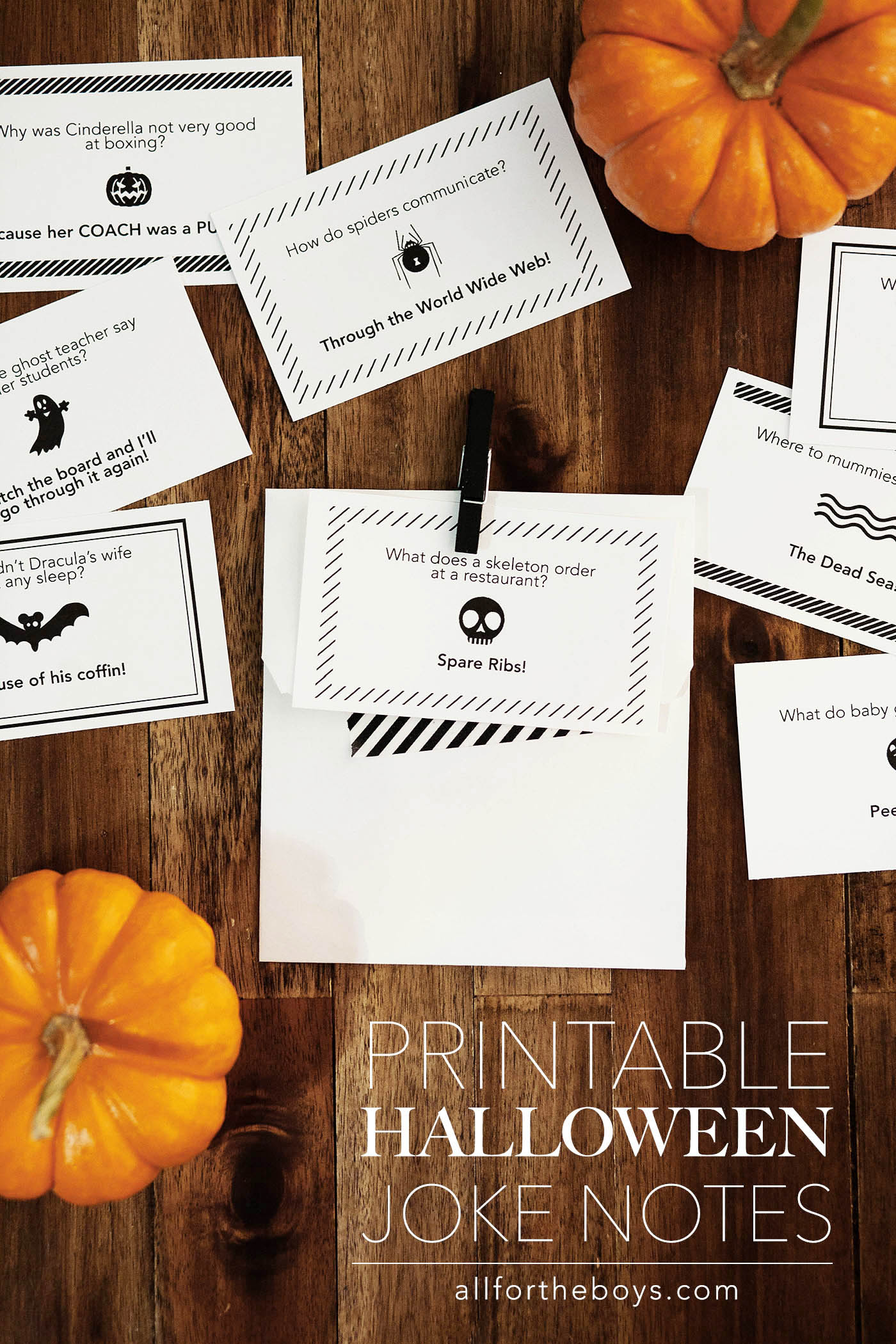 Free printable Halloween Jokes