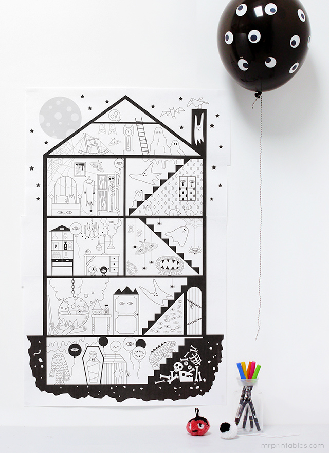 10 Page Printable Haunted House All For The Boys