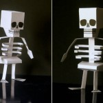 Printable skeleton paper toy