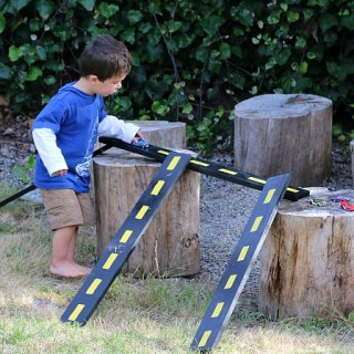 DIY Roads & Ramps for Toy Cars
