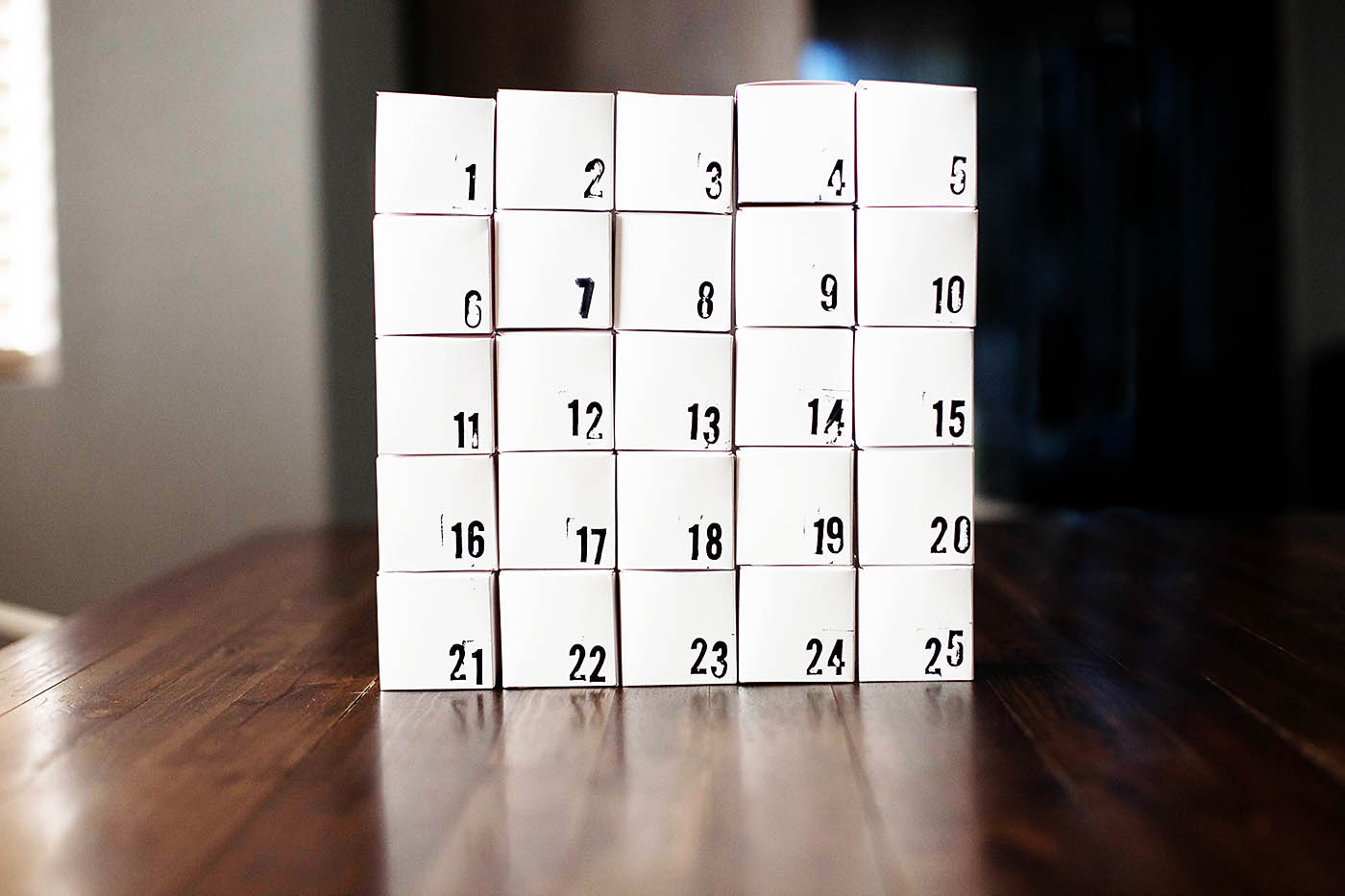 DIY geometric advent calendar
