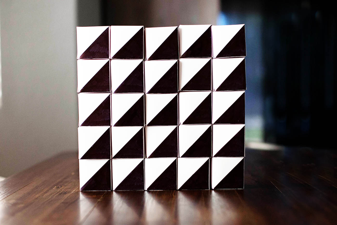 DIY geometric advent calendar