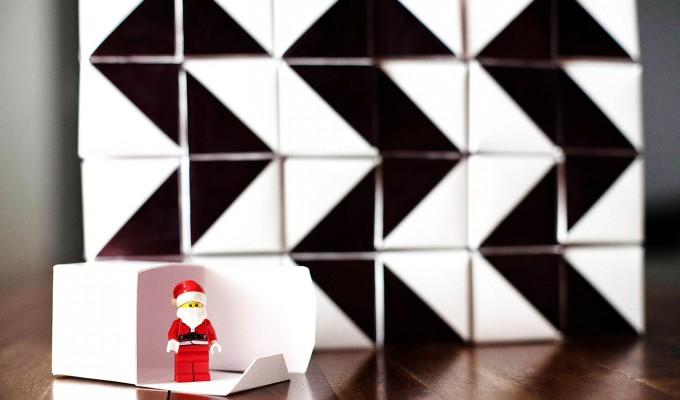DIY Geometric Advent Calendar Blocks