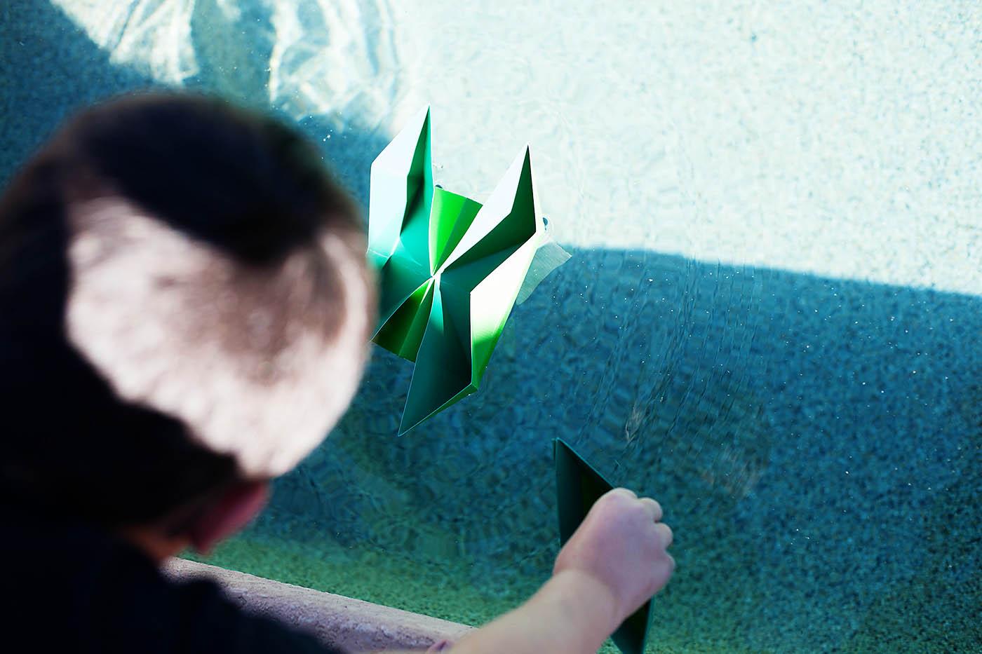 DIY folded floating catamaran!