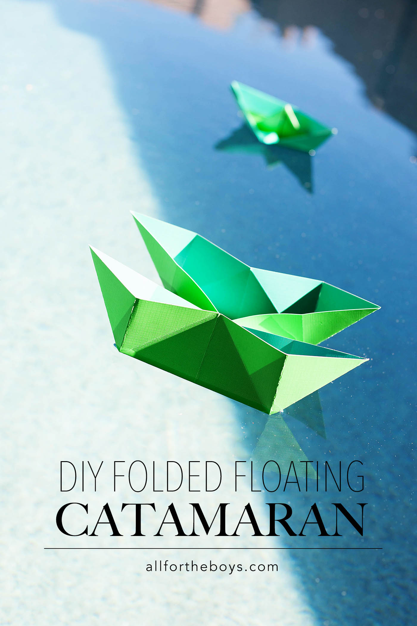 DIY folded floating catamaran!