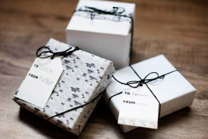 Printable pixelated wrapping paper