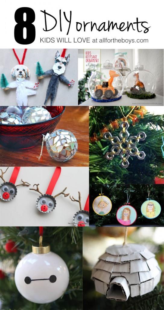 8 DIY Ornaments Kids Will Love