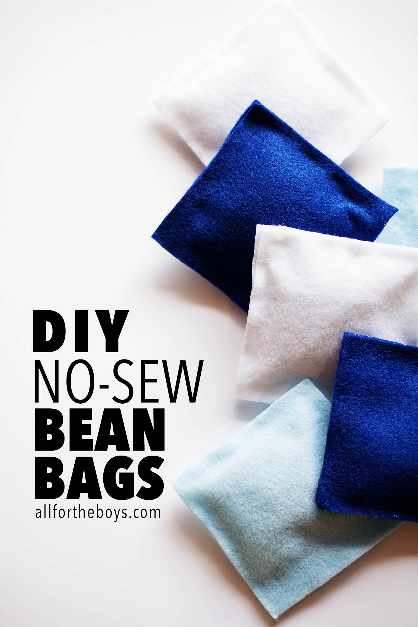 DIY no-sew bean bags