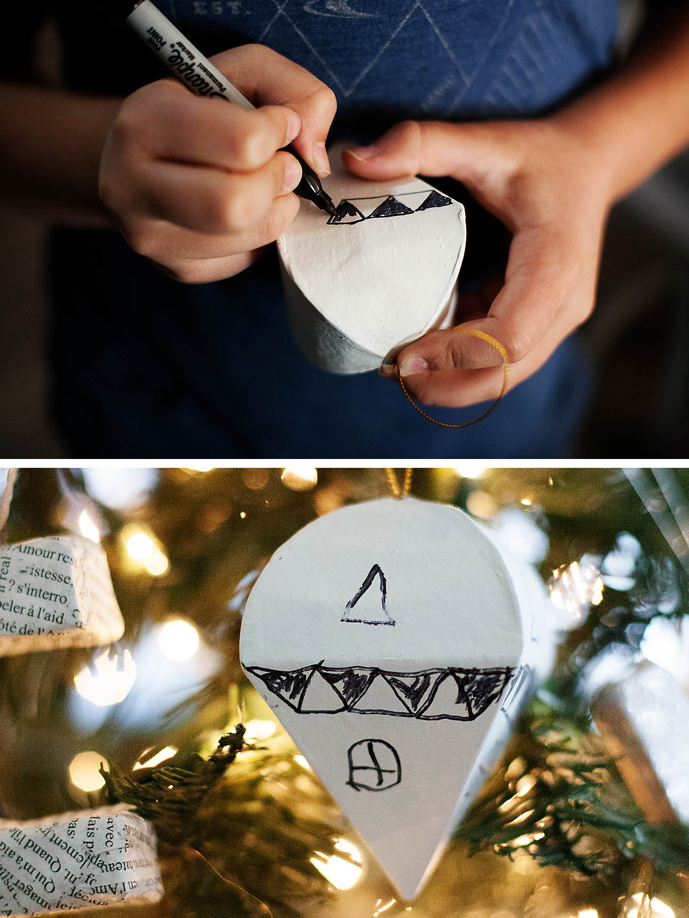 Easy doodle ornaments
