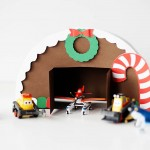 DIY Gingerbread airplane hangar