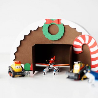 DIY Gingerbread Airplane Hangar for your favorite Planes