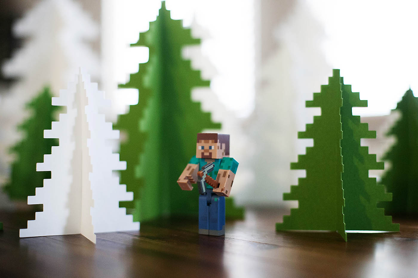 Printable pixelated tree