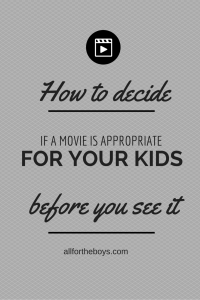 How to decide if a movie is appropriate for your kids