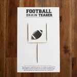 Printable football brain teaser - perfect for a SuperBowl or football party!
