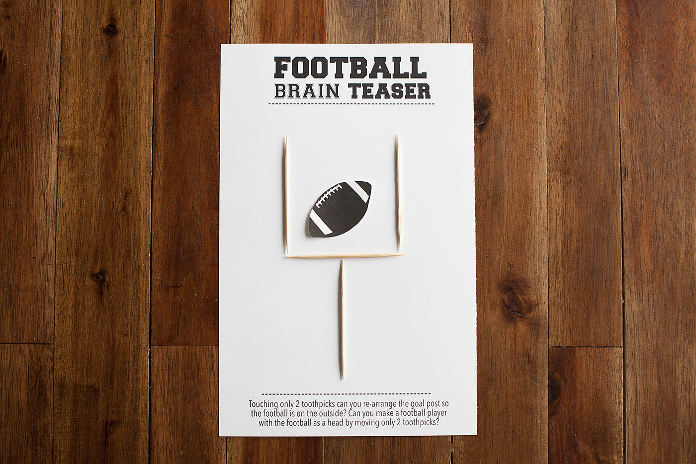 Football Brain Teaser Printable