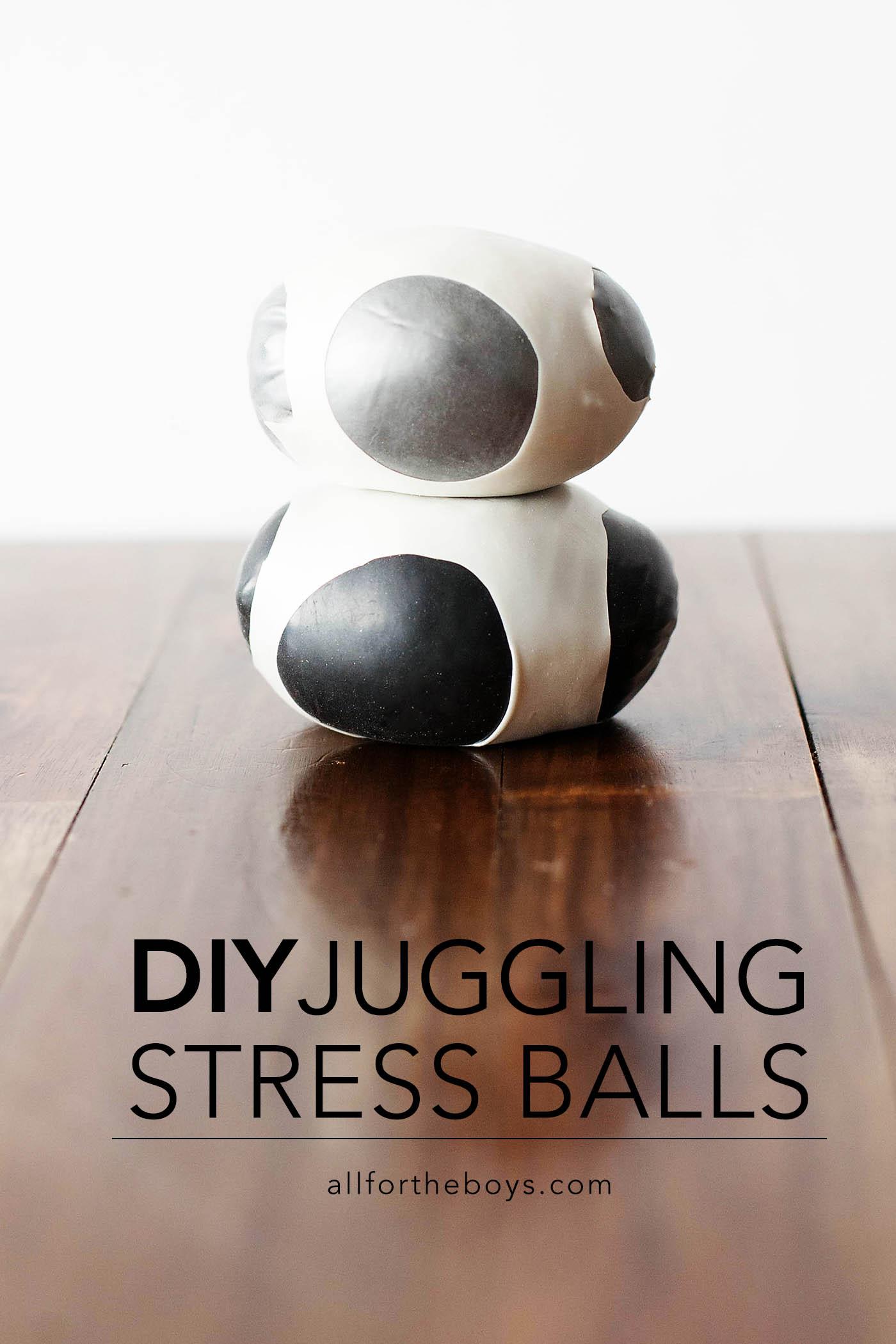 DIY juggling stress balls