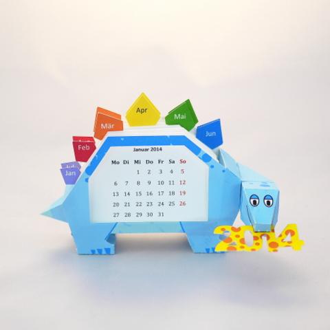 Printable Dinosaur calendar