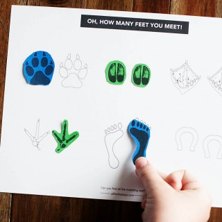 "Dr. Seuss' ""The Foot Book"" Printable Game"