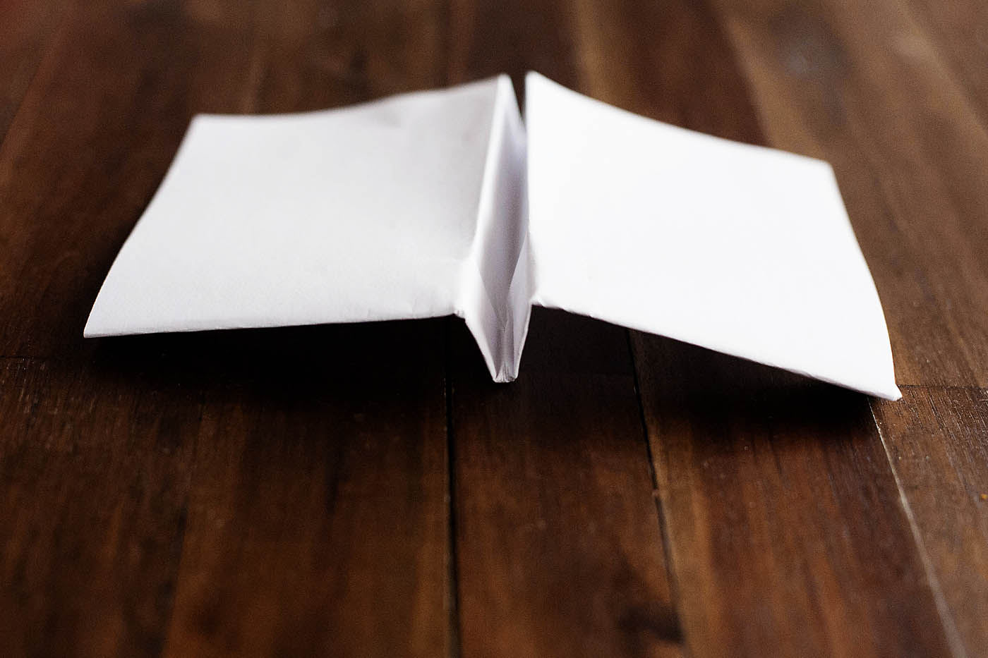 How to make a paper airplane with square