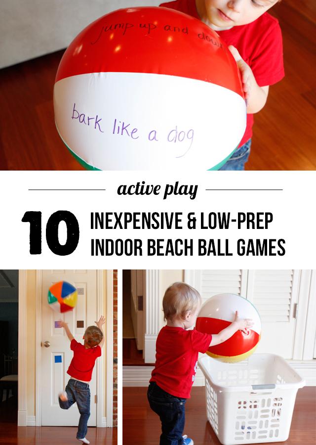 Indoor beach ball games