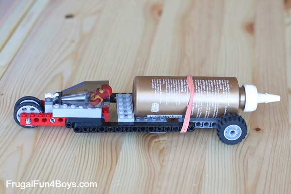 Rocket Powered Lego Car All For The Boys