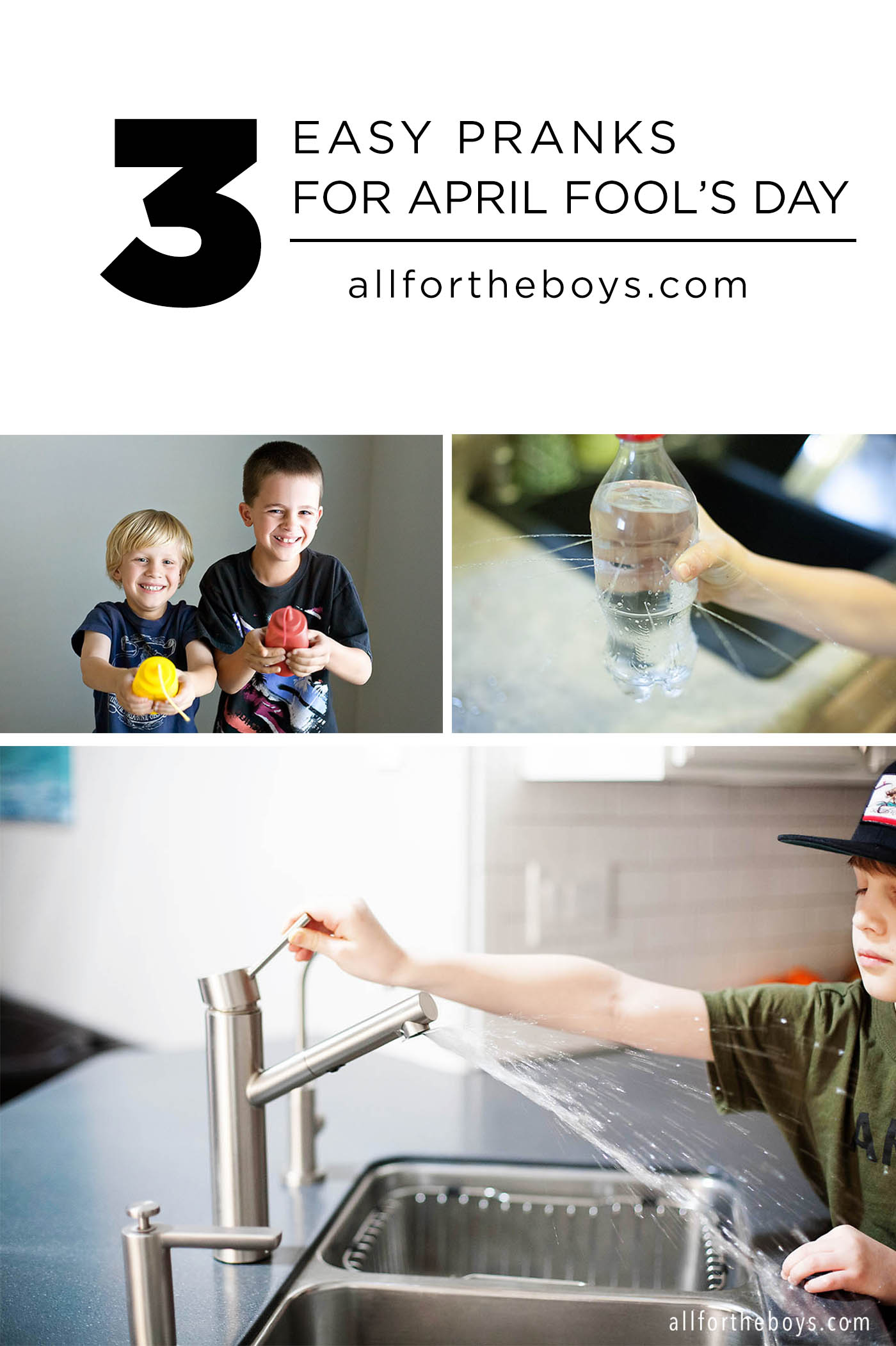 More Easy April Fool\'s Day Prank Ideas for Kids — All for the Boys