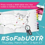 #SoFabUOTR Twitter Party March 12th 3pmEST