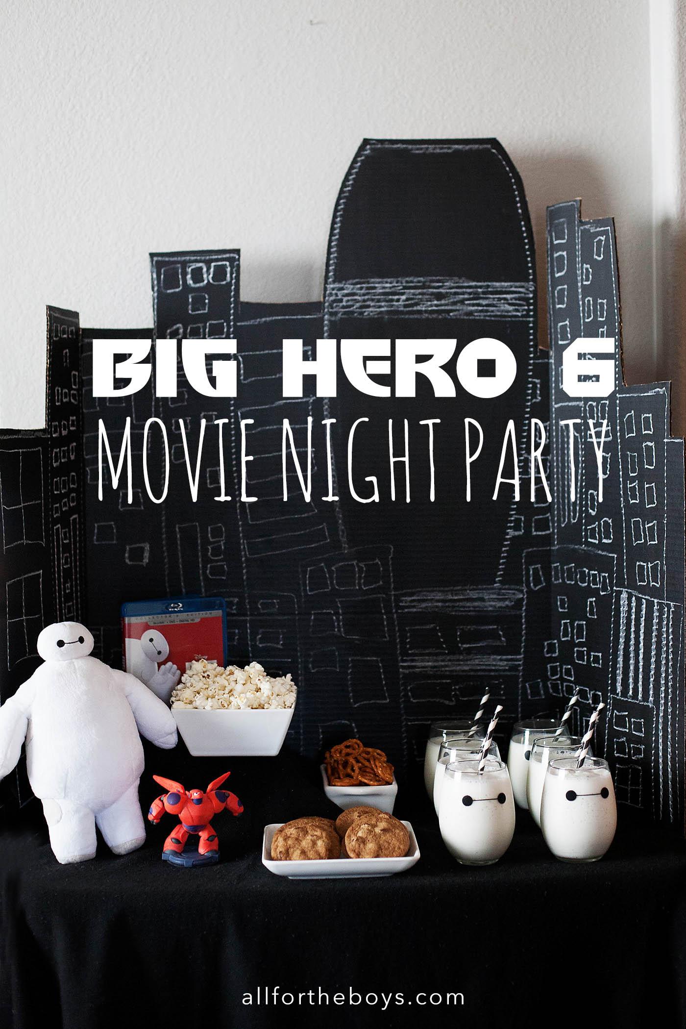 Big Hero 6 Movie Night Party