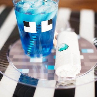 Pixelated Printable Party Supplies & Chinet® Cut Crystal® Tableware Giveaway