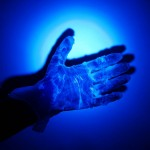 Glowing hand experiment from All for the Boys blog