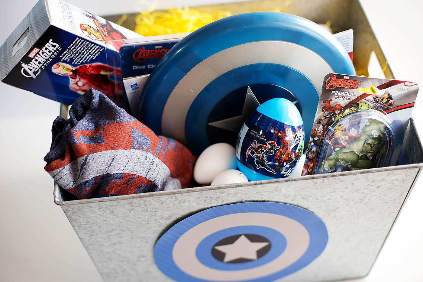 amazing Captain America Easter Basket Part - 12: Modern Marvel Easter Basket