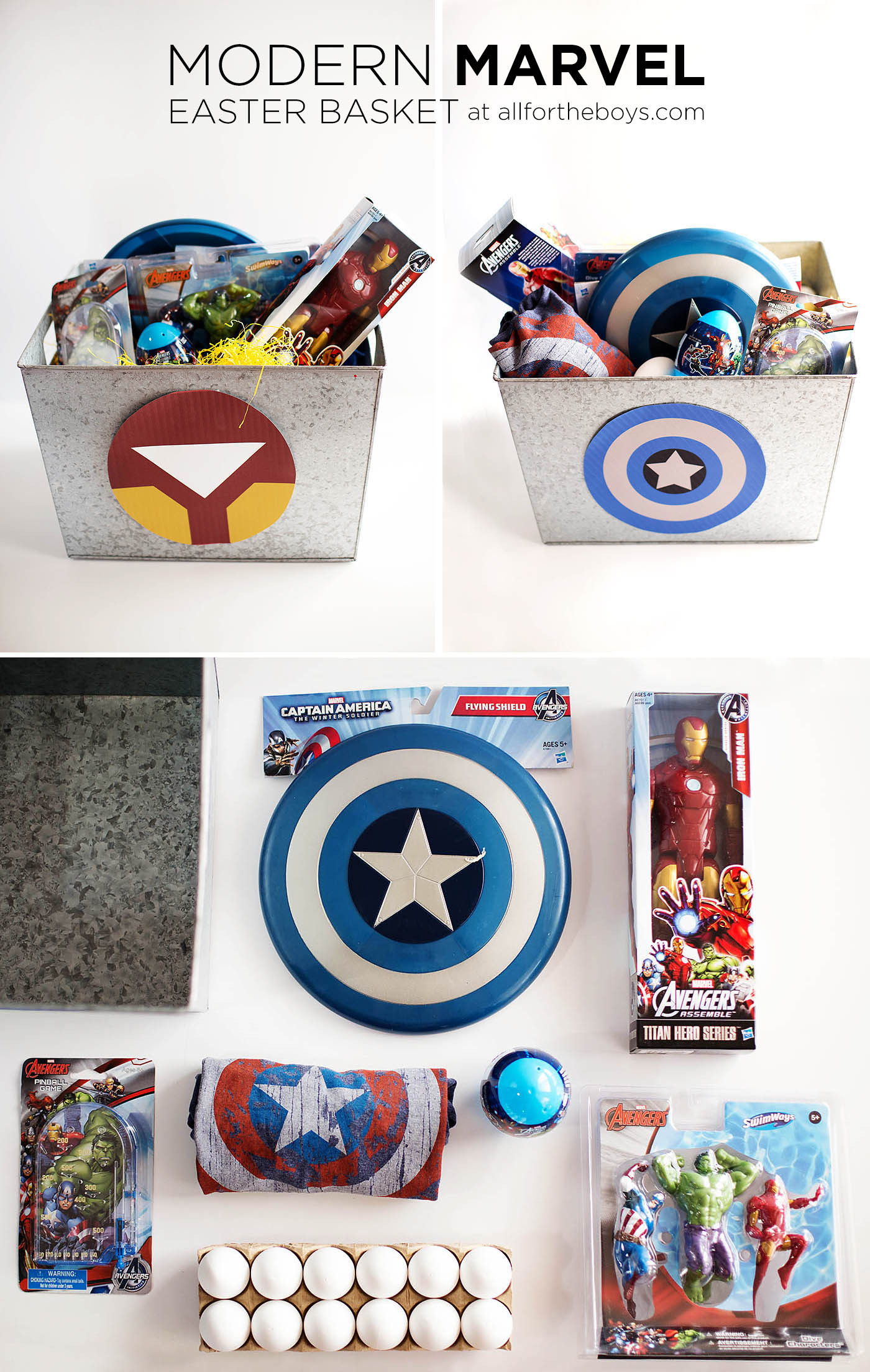 stunning Captain America Easter Basket Part - 4: Modern Marvel Easter Basket