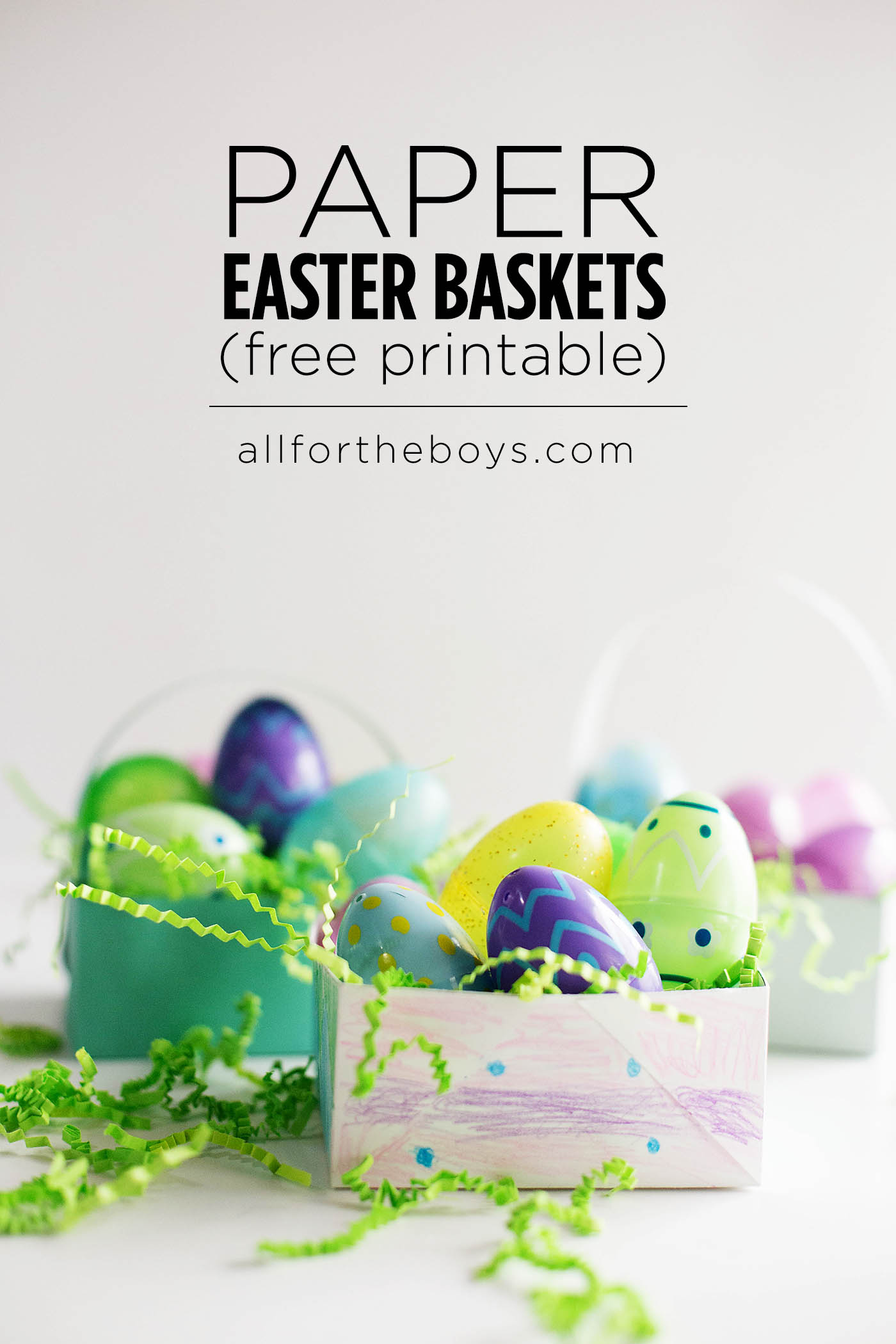 DIY Paper baskets (with printable)