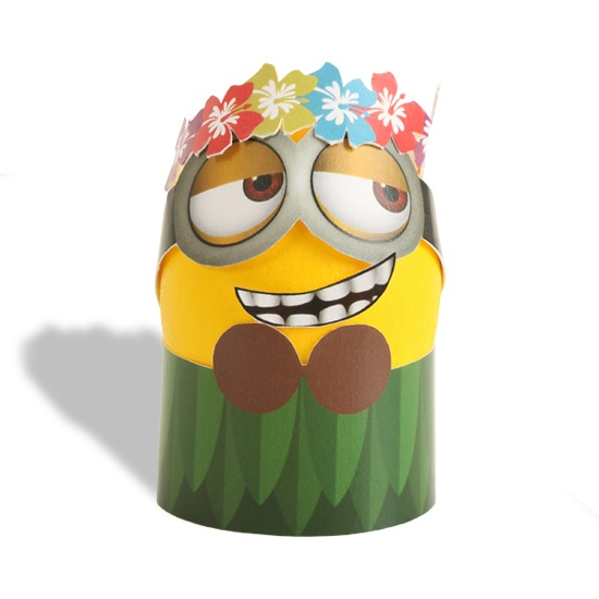 Printable Hula Minion Easter Egg