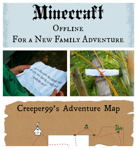 Minecraft offline - backyard treasure hunt