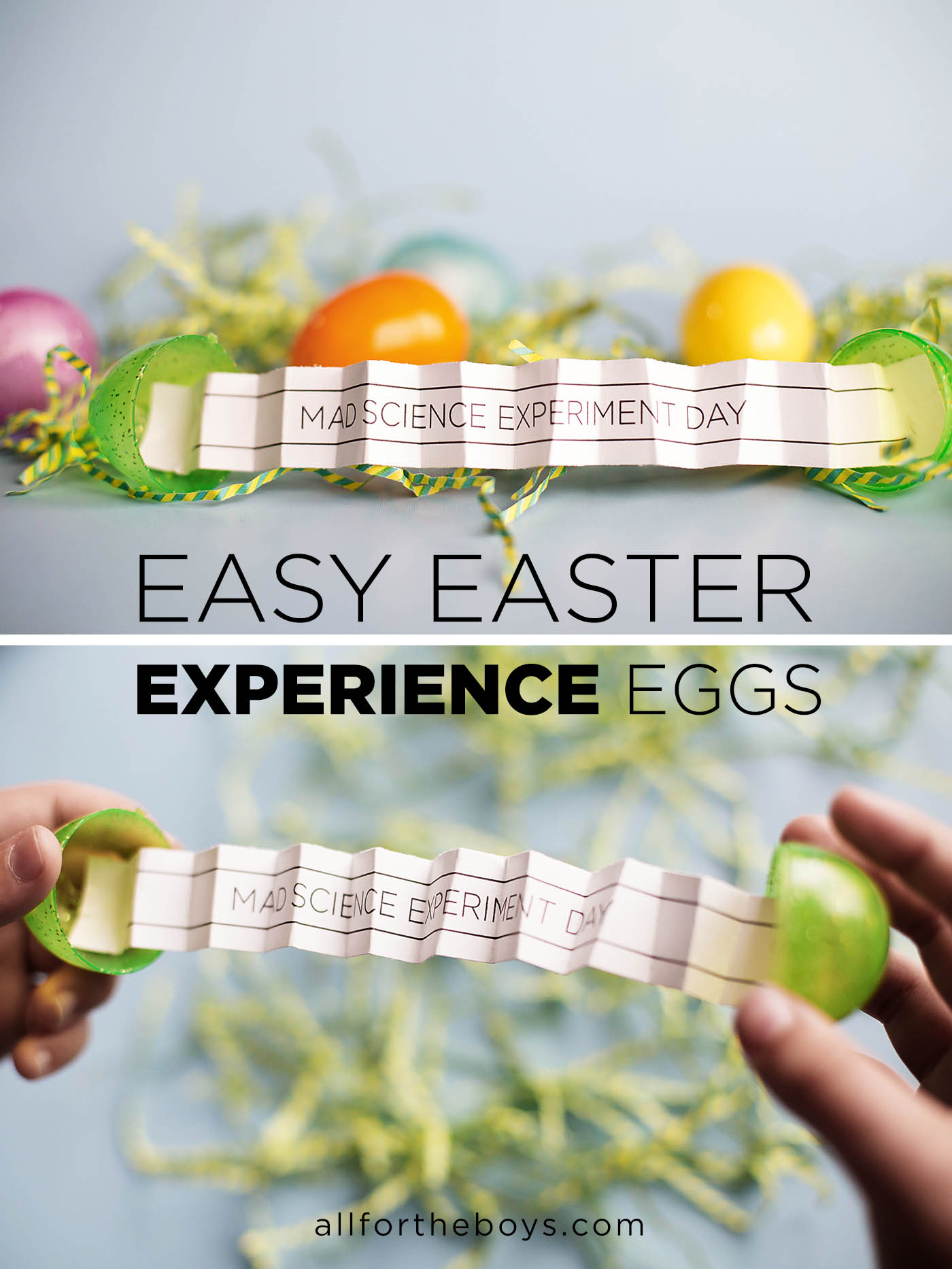 Easy Easter experience eggs - instead of candy or toys