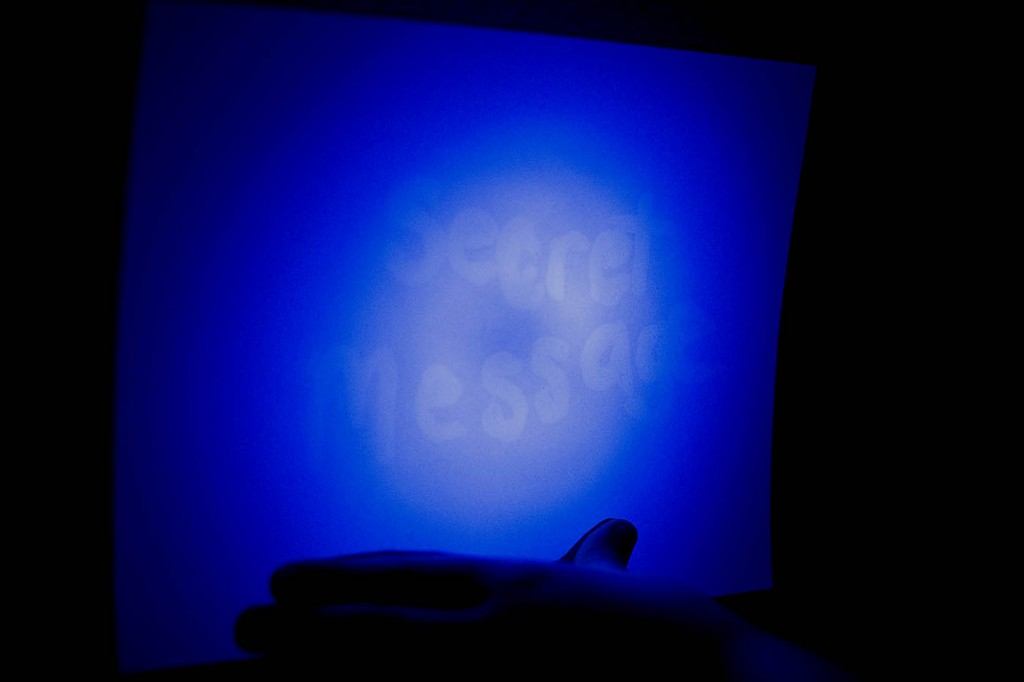 Secret Glowing Message with Invisible Ink