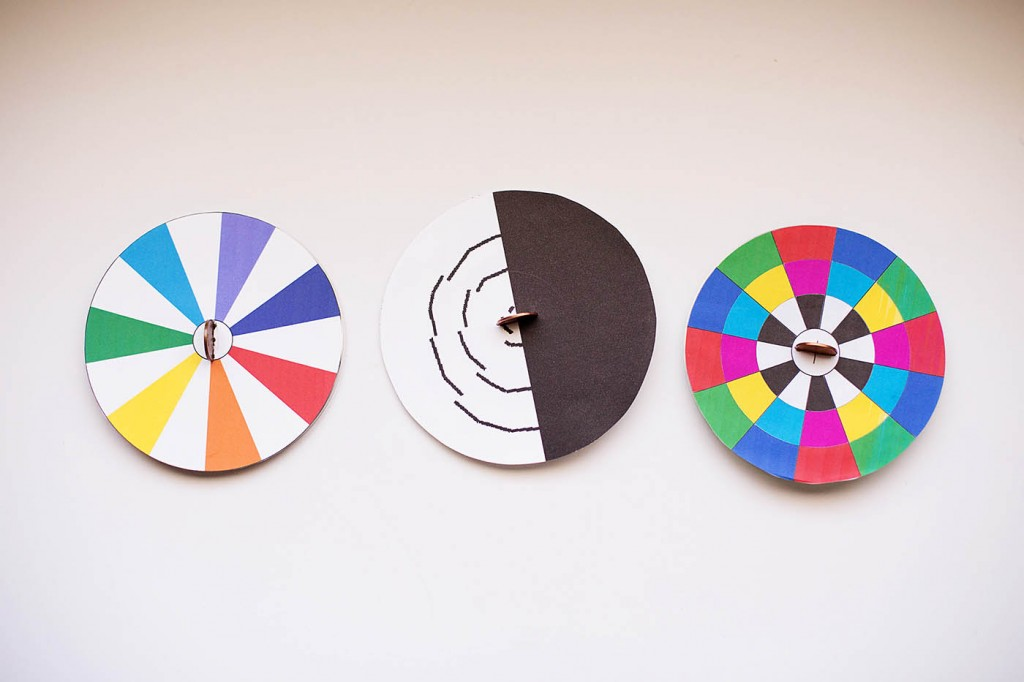DIY Spinning Top Optical Illusion Toys