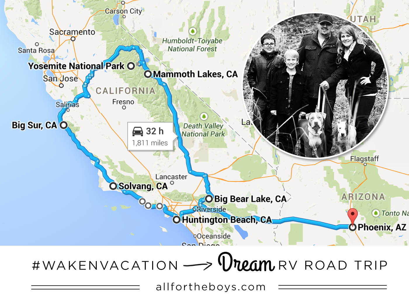 Go RVing Our Dream RV Road Trip All for the Boys – Rv Travel Maps