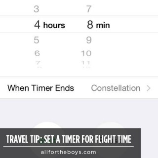Travel Tip: Set a Timer for Flight Time