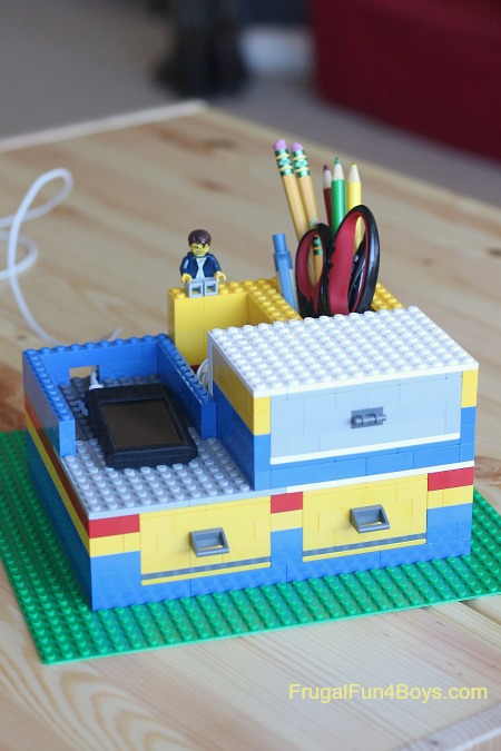 LEGO desk organizer from Frugal Fun for Boys