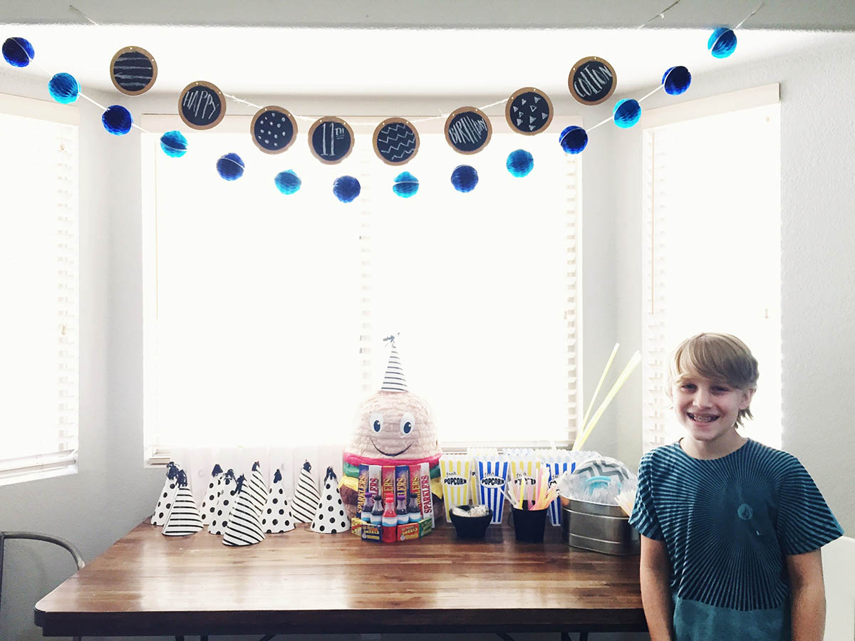 Kid planned birthday party!